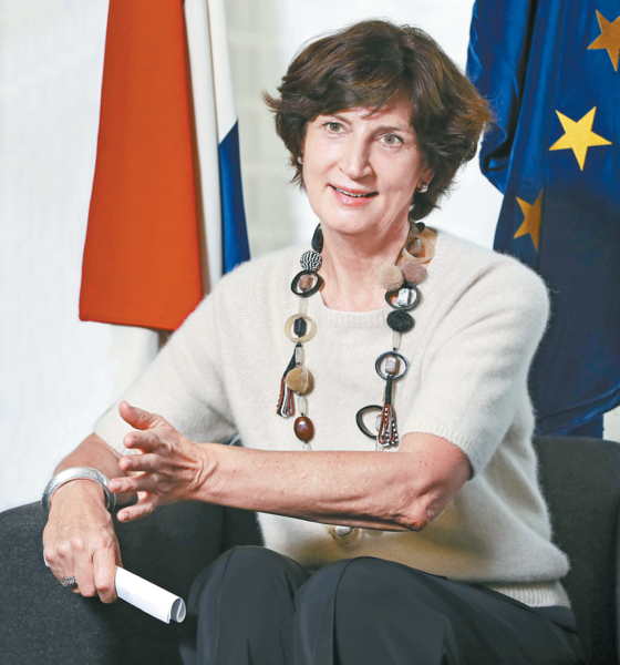 Joanne Doornewaard, ambassador of the Netherlands to Korea, in an interview with the Korea JoongAng Daily on Dec. 3. [PARK SANG-MOON]