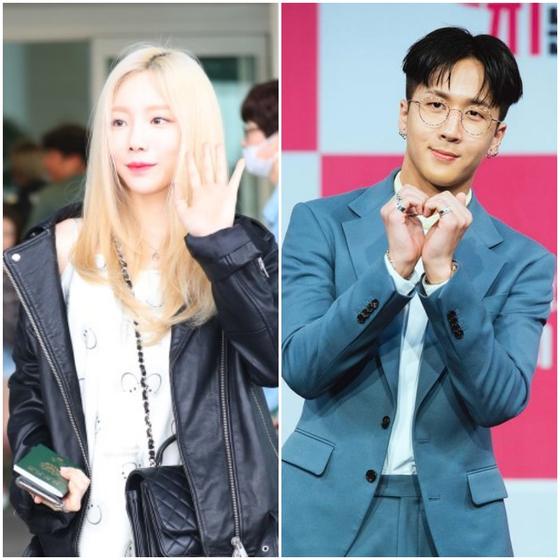 Singer Taeyeon, left, and Ravi deny allegations that they are romantically involved. [ILGAN SPORTS]