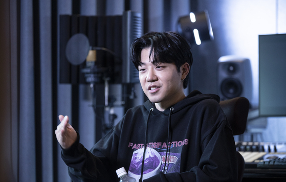 Rapper Lil Boi at the interview with JoongAng Ilbo at his studio in Samseong-dong, southern Seoul, on Dec. 22. [KWON HYUK-JAE]