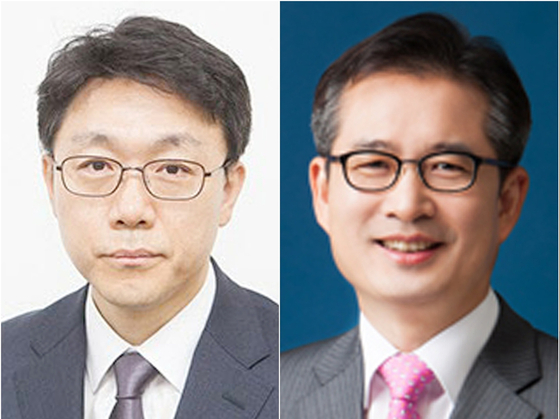 Kim Jin-wook, left, and Lee Kun-ree were selected Monday by a nomination panel as finalists to become the first head of the Corruption Investigation Office for high-ranking public officials. President Moon Jae-in will chose one of them.  [YONHAP]