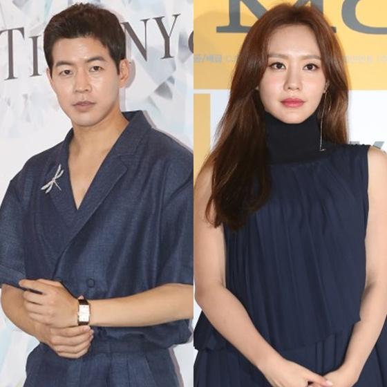 Actors Lee Sang-yoon, left, and Kim Ah-joong. [ILGAN SPORTS]