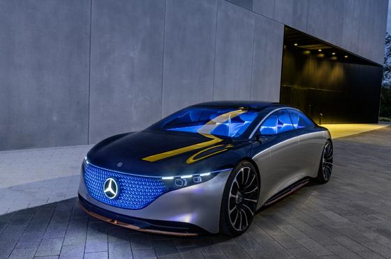 Mercedes-Benz's EQS concept model. [MERCEDES-BENZ KOREA]