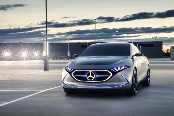 Mercedes-Benz's EQA concept model. [MERCEDES-BENZ KOREA]