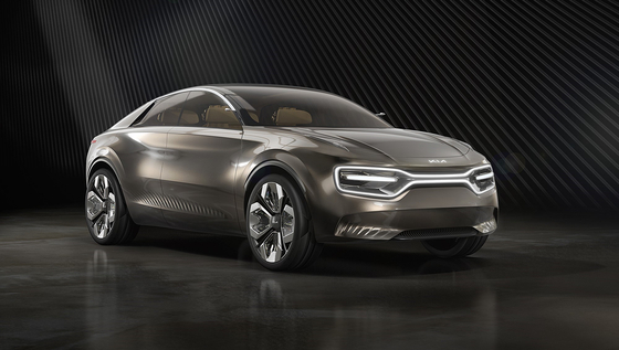 Kia Motors' concept car Imagine by KIA which is expected to be the base of the carmaker's soon-to-launch electric vehicle model known by the code name CV. [KIA MOTORS]