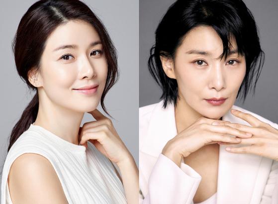 Actors Lee Bo-young, left, and Kim Seo-hyung. [ILGAN SPORTS]