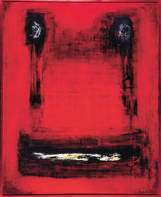 ″Rite″ (1964) is one of Kim Tschang-yeul's Art Informel paintings. [NATIONAL MUSEUM OF MODERN AND CONTEMPORARY ART]