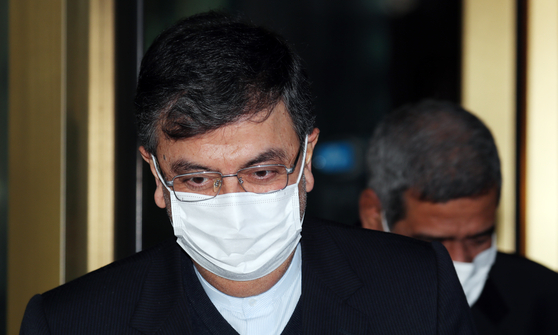 Iran's Ambassador to Korea Saeed Badamchi Shabestari is summoned to the Foreign Ministry in central Seoul Tuesday afternoon over the seizure of a Korean vessel by Iranian authorities. [YONHAP]