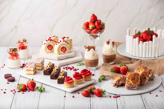 A collection of strawberry desserts available at the Grand Hyatt Seoul in Yongsan District, central Seoul. [GRAND HYATT SEOUL]