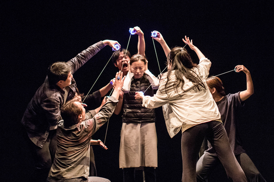 """""""A Work of an Egg"""" (translated) by Creative Group Bluebeard premiered at the Arko Arts Theater in central Seoul on Jan. 9 and will run until Jan. 17. [ARKO]"""
