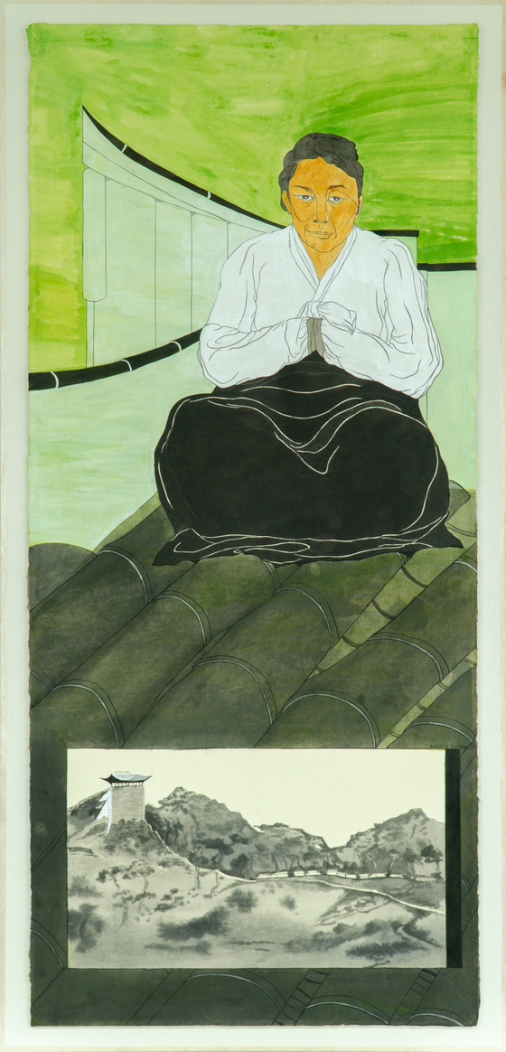 ″The portrait of Kang Ju-ryong″(2020) by Yun Suknam [HAKGOJAE]