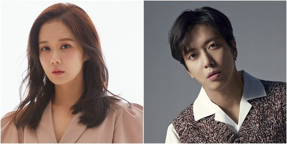 Jang Na-ra, left, and Jung Yong-hwa have been cast to play the lead roles in new KBS drama ″Daebak Realtor.″ [ILGAN SPORTS]