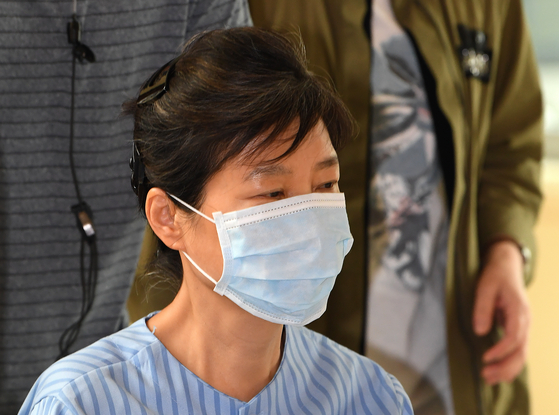 In this file photo, former President Park Geun-hye receives a medical examination at the Seoul St. Mary's Hospital in southern Seoul on Aug. 30, 2017.  [YONHAP]