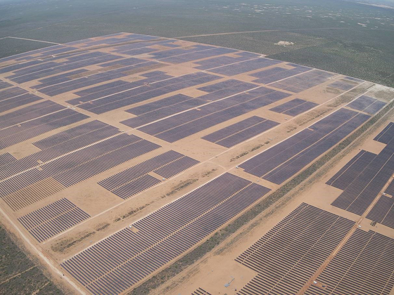 A solar energy power plant in Texas developed by Hanwha's wholly-owned U.S. branch 174 Power Global. [HANWHA ENERGY]