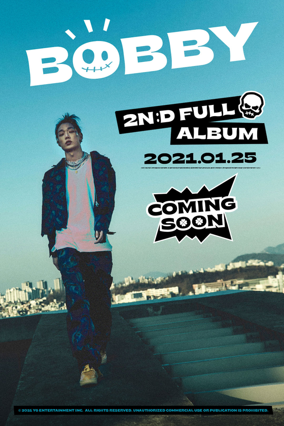 YG Entertainment released a poster of iKon member Bobby to signal the upcoming release of his new album. [YG ENTERTAINMENT]