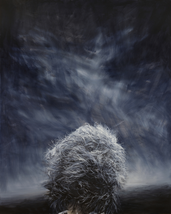 "Kong Sung-hun's oil painting ""Gray Hair"" (2013) [MMCA]"