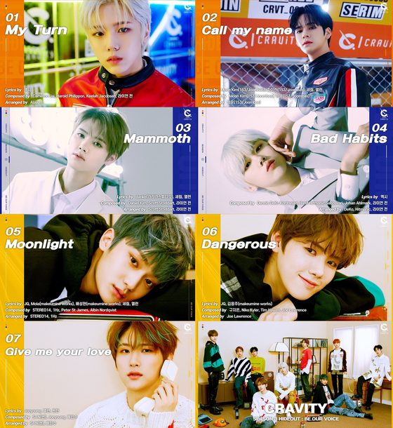 Captured images from the preview video of Cravity's new EP ″Cravity Season 3 Hideout: Be Our Voice″ uploaded on Sunday [STARSHIP ENTERTAINMENT]