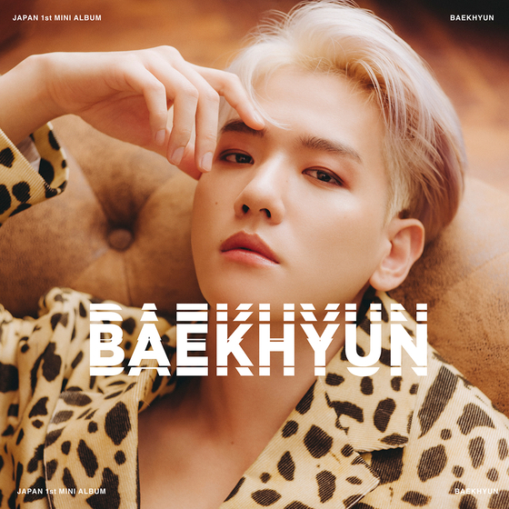 The cover image for Baekhyun's first Japanese EP ″Baekhyun″ to drop on Wednesday at noon. [SMENTERTAINMENT]