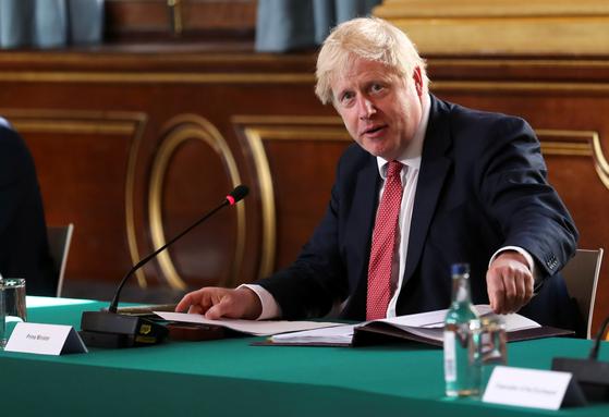 British Prime Minister Boris Johnson [YONHAP]
