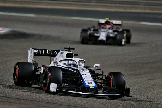 Jack Aitken trains for the Sakhir Grand Prix in Bahrain on Dec. 3, 2020. [WILLIAMS RACING]
