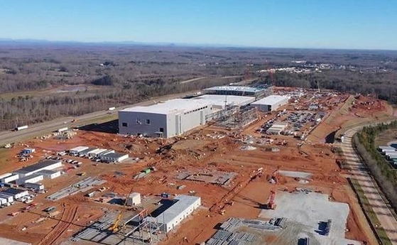A battery plant being built by SK Battery America, a U.S. subsidiary of SK Innovation, in Commerce, Georgia. [SK INNOVATION]