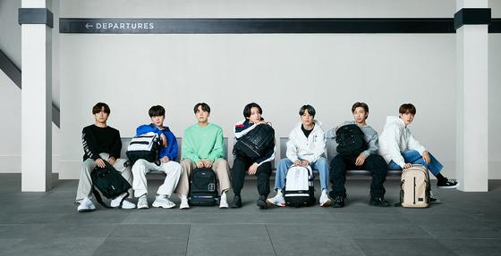 Boy band BTS, whose all seven members RM, Jin, J-Hope, Jungkook, V, Suga and Jimin are Korean [FILA]