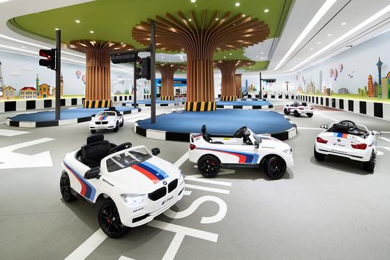 Paradise Hotel Busan's BMW Kids Driving Zone in its Kids Village. [PARADISE HOTEL BUSAN]