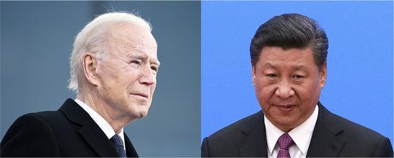 Xi Jinpinew U.S. President Joe Biden, left, and Chinese President Xi Jinping face many challenges ahead. [AP, XINHUA/YONHAP]