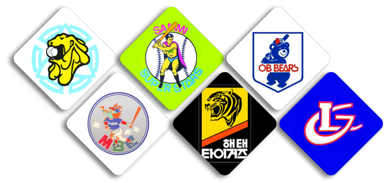 The KBO's six founding clubs.
