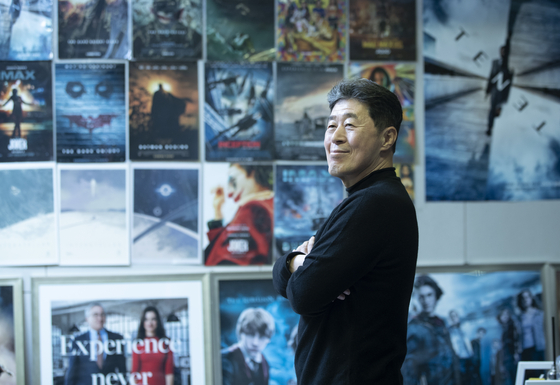 Park Hyo-sung, former general manager of Warner Bros Korea, poses at film marketing company ROSC in Jung District, central Seoul. [KWON HYUK-JAE]