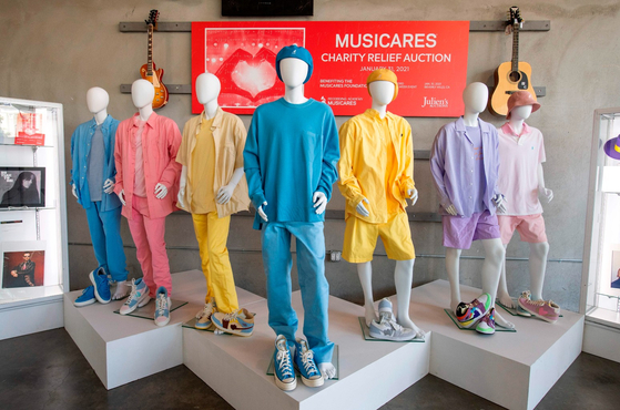 The BTS outfits offered on MusiCare's Benefit Auction [YONHAP]