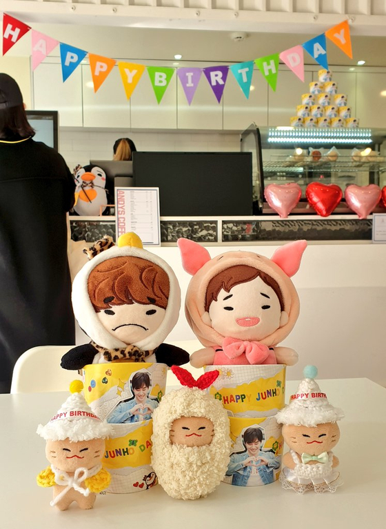 Goods created by fans of singer-actor Lee Jun-ho as a part of his birthday tour. [SCREEN CAPTURE]