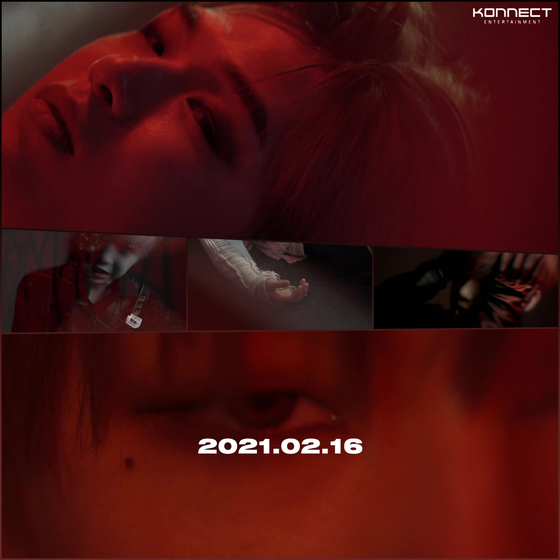 Captured images from the teaser video of Kang Daniel's new music to drop on Jan. 16 [KONNECT ENTERTAINMENT]