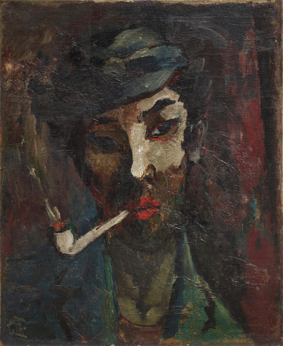 """″Portrait of a Friend″(1935) by artist Gu Bon-ung, which depicts his friend and poet Yi Sang, dubbed a ″doomed genius″ is part of the MMCA's new exhibition """"Encounters Between Korean Art and Literature in the Modern Age"""" at its Deoksu Palace branch in central Seoul. [MMCA]"""