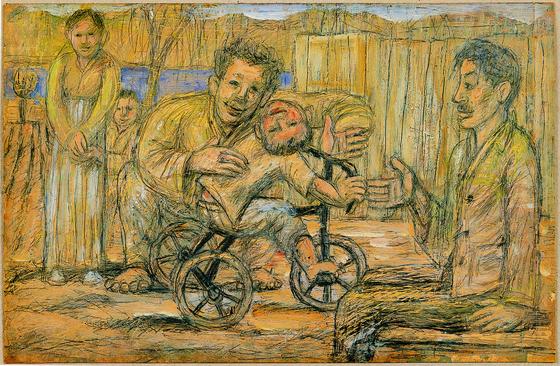 ″Family of Poet Ku Sang″ (1955) by artist Lee Jungseop [MMCA]