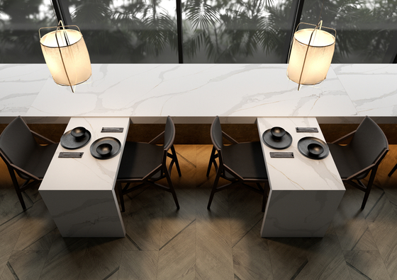 Imitation marble presented by LG Hausys. [LG HAUSYS]