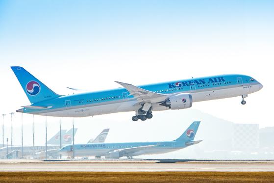 Korean Air Lines' Boeing 787-9 aircraft. [KOREAN AIR LINES]