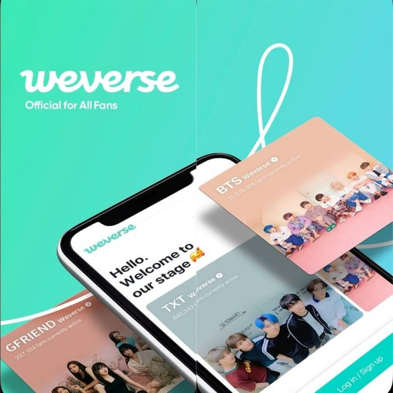 Big Hit Entertainment launches the K-pop fan community platform Weverse in 2019 through its subsidiary beNX. [WEVERSE]