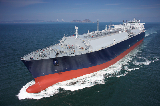 This file photo, provided by Samsung Heavy Industries, shows a liquefied natural gas carrier built by the shipbuilder. [YONHAP]