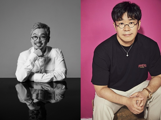 Songwriter Pdogg, left, and Cho Young-soo [KOMCA]