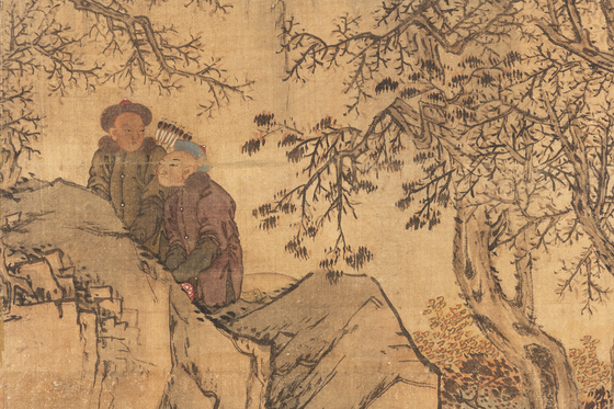 The painting style is similar to Joseon's renowned artist Kim Hong-do. Experts revealed that it's a replica of Kim's painting. [CULTURAL HERITAGE ADMINISTRATION]