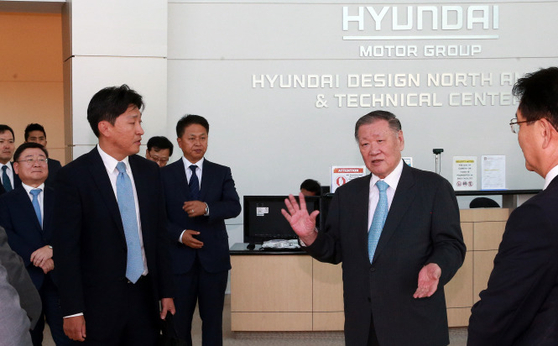 Chung Mong-koo, honorary chairman of Hyundai Motor Group, in a photo taken in 2016 at the group's design center in California. [HYUNDAI MOTOR]