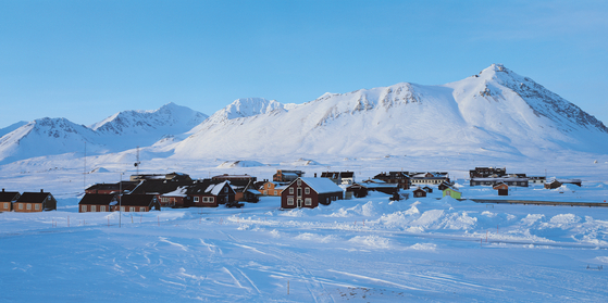 The Ny-Alesund International Science Village on Spitsbergen Island in Svalbard archipelago in Norway, where Korea's research center in the Arctic, the Dasan Center, is located. [KOREA POLAR RESEARCH INSTITUTE]