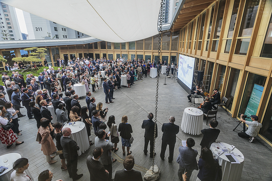 Opening reception of the renovated Swiss Embassy in Korea in central Seoul in May 2019. [EMBASSY OF SWITZERLAND IN KOREA]