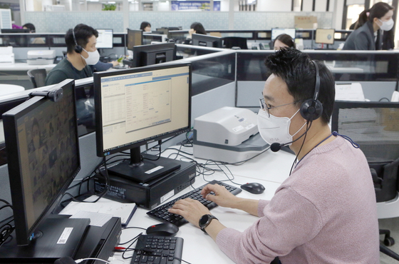 Shinhan Bank's digital sales department. [SHINHAN BANK]