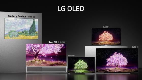 LG Electronics' 2021 OLED TV line-up. [LG ELECTRONICS]