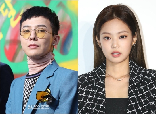 G-Dragon, left, and Jennie, may be dating. [ILGAN SPORTS]