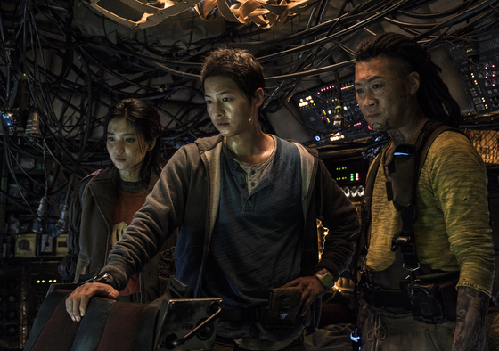 """The crew of the space debris collecting ship Victory are initially described as materialistic as they are prepared to do anything to get their hands on some cash to help pay off their debts in the sci-fi fi lm """"Space Sweepers."""" [NETFLIX]"""