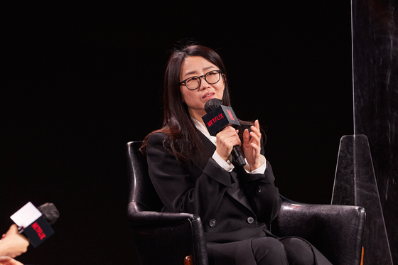"Writer Kim Eun-hee attended the event to discuss about her upcoming Netflix episode ""Kingdom: North of Ashin."" [NETFLIX]"