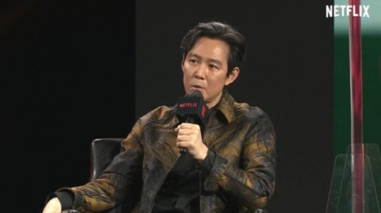 "Actor Lee Jung-jae appeared as one of the panels to discuss upcoming series ""Squid Game."" [NETFLIX]"