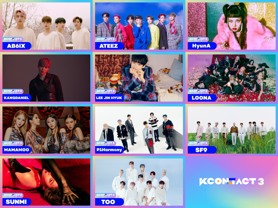 "Final lineup of K-pop stars for ""KCON:TACT 3."" [CJ ENM]"
